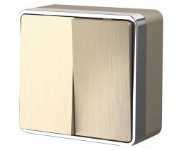 Выключатель двухклавишный Werkel Gallant 4 W5020010
