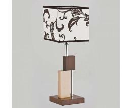 Настольная лампа декоративная Alfa Qube Brown 9414