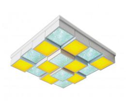 Накладной светильник Ambrella Orbital Crystal Sand FS1550 WH/SD 192W D715*715