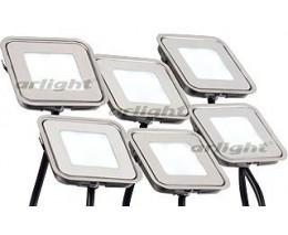 Набор из 6 встраиваемых светильников Arlight  KT-S-6x0.6W LED Day White 12V (квадрат)