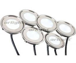 Набор из 6 встраиваемых светильников Arlight  KT-R-6x0.5W LED Day White 12V (круг)