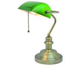 Настольная лампа офисная Arte Lamp Banker A2492LT-1AB