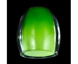 Плафон стеклянный Eurosvet Конфетти плафон 9808, 30151 зеленый+прозрачный, арт. 70436