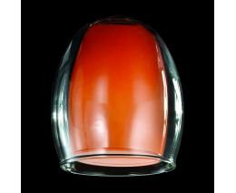 Плафон стеклянный Eurosvet Конфетти плафон 9808/30151 оранжевый+прозрачный, арт. 70438