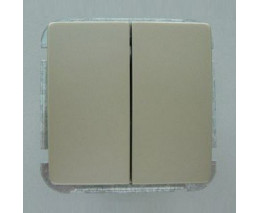 Выключатель двухклавишный без рамки Imex 1112L 1112L-S300