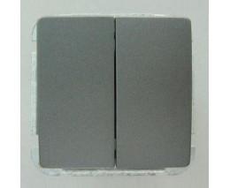 Выключатель двухклавишный без рамки Imex 1122L 1122L-S320