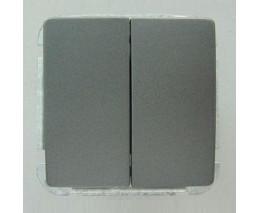 Выключатель двухклавишный без рамки Imex 1122L 1122L-S340