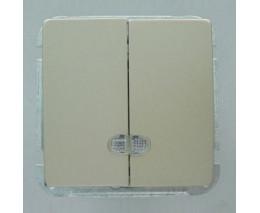 Выключатель двухклавишный без рамки Imex 1188L 1188L-S300