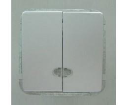 Выключатель двухклавишный без рамки Imex 1188L 1188L-S340