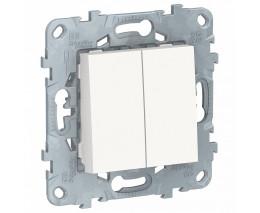 Выключатель двухклавишный без рамки UNICA 521318 NU521318