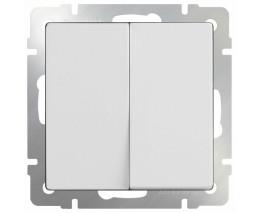 Выключатель двухклавишный без рамки Werkel Белый WL01-SW-2G