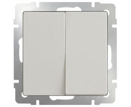 Выключатель двухклавишный без рамки Werkel Слоновая кость WL03-SW-2G-ivory