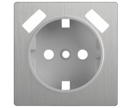Накладка для розетки USB Werkel WL09 WL09-USB-CP (Серебряный рифленый)