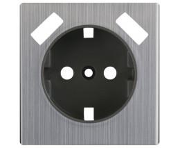 Накладка для розетки с заземлением и 2хUSB Werkel Глянцевый никель WL02-USB-CP